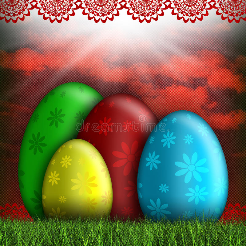 Happy Easter card - abstract illustration