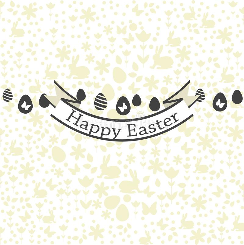 Postcard with Happy Easter greetings. Background pattern design. Vector file. vector illustration