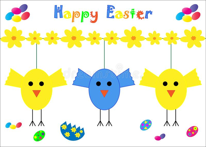 Download Happy Easter Card Chicks stock vector. Illustration of icon - 13930744