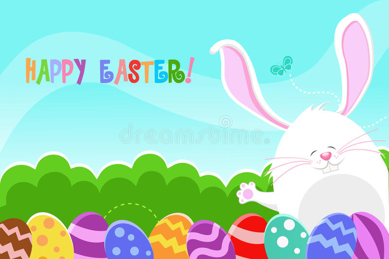 Happy Easter Card Stock Vector. Illustration Of Baby