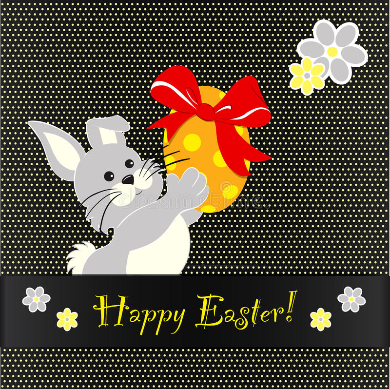 Download Happy Easter card design stock vector. Image of dancing - 23258948