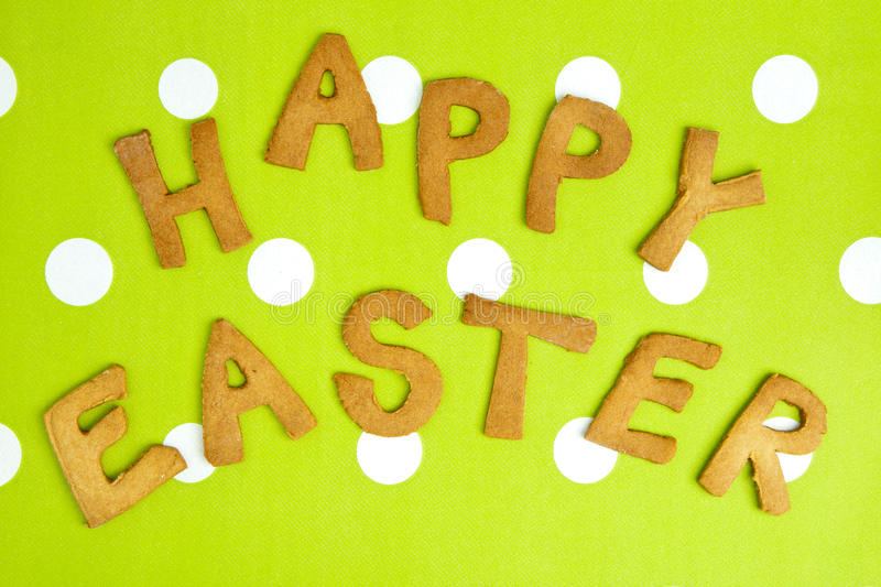 Download Happy Easter Card On Green Fabric Stock Photo - Image of chocolate, decorative: 22968024