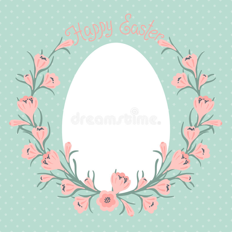 Happy Easter card with place for your text. royalty free illustration