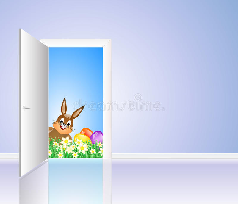 Download Happy easter card stock illustration. Illustration of holiday - 39505625