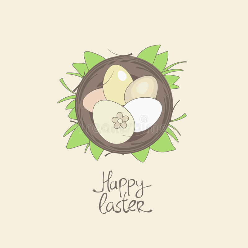 Download Happy Easter Card Template. Stock Vector - Image: 23693045
