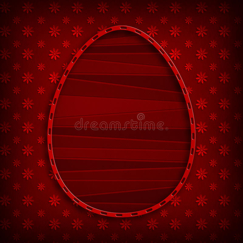 Happy Easter card template - simple design stock illustration