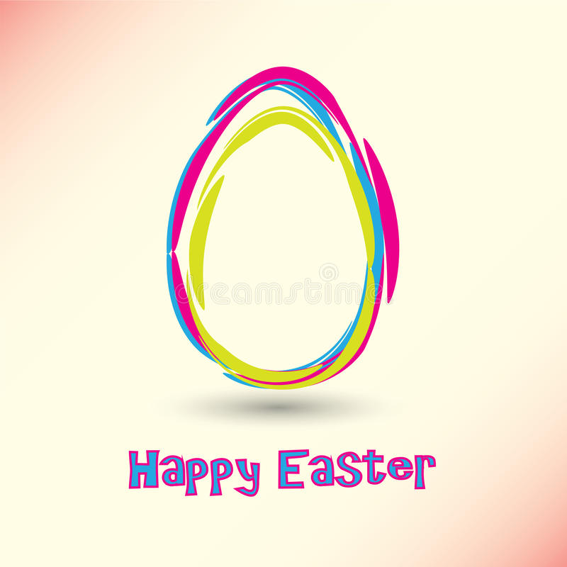 Happy Easter Card royalty free illustration