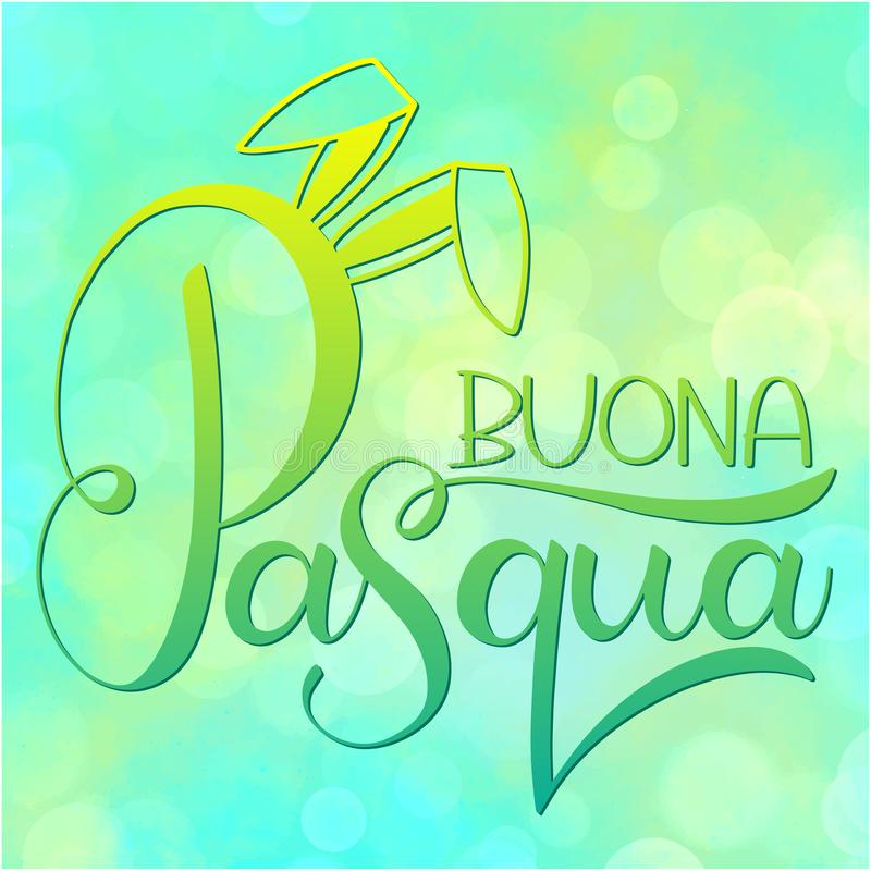 Happy easter colorful lettering in italian stock vector buona pasqua colorful lettering happy easter colorful lettering in italian hand written easter phrases seasons greetings m4hsunfo
