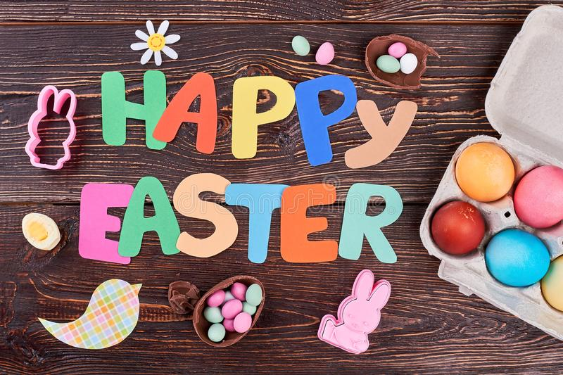 Happy Easter colorful letters. royalty free stock photos