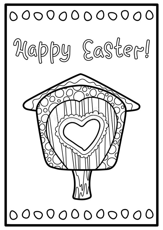 Simple bird house coloring Free printable house coloring pages for ... | 900x639