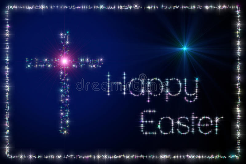 Download Happy Easter cross stock illustration. Image of star - 23332087