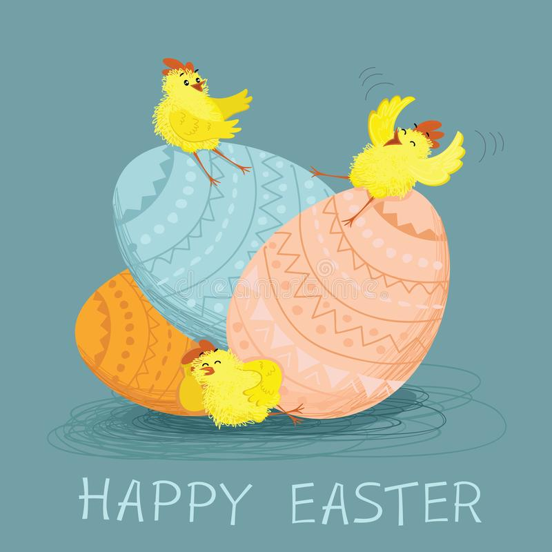Happy Easter Day card stock illustration