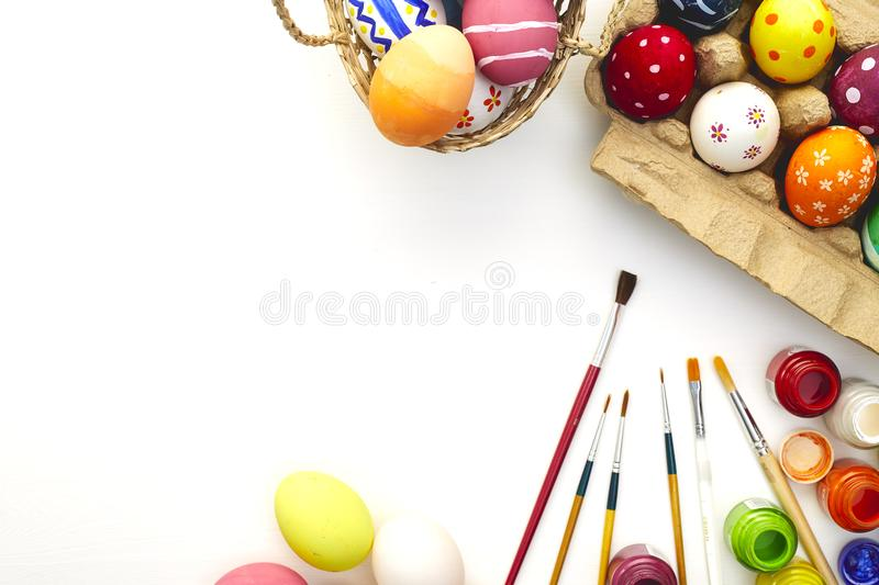 Happy easter day festival holiday stock photo