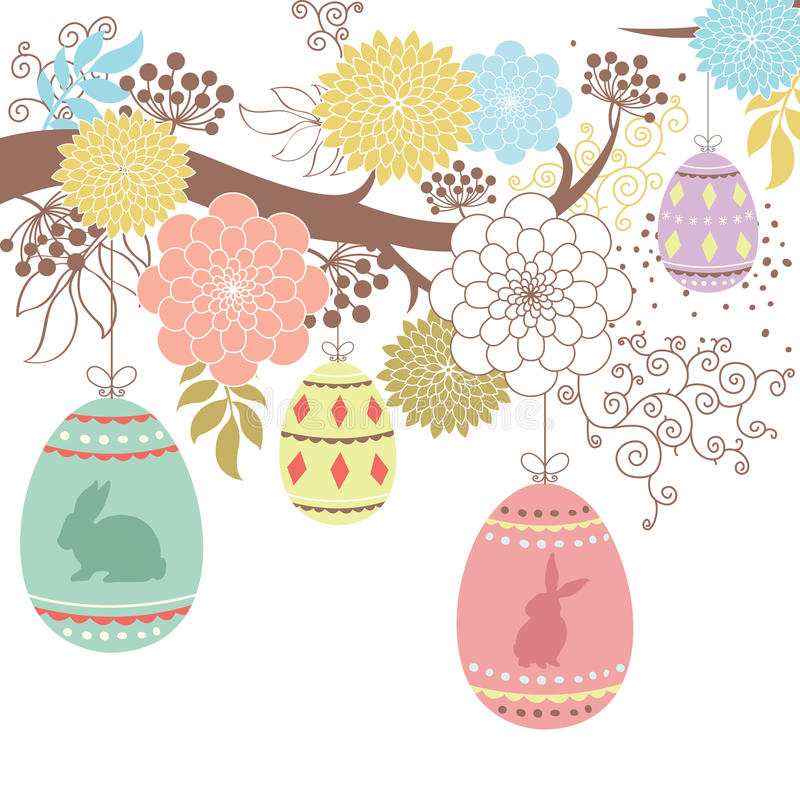 Happy Easter day stock illustration