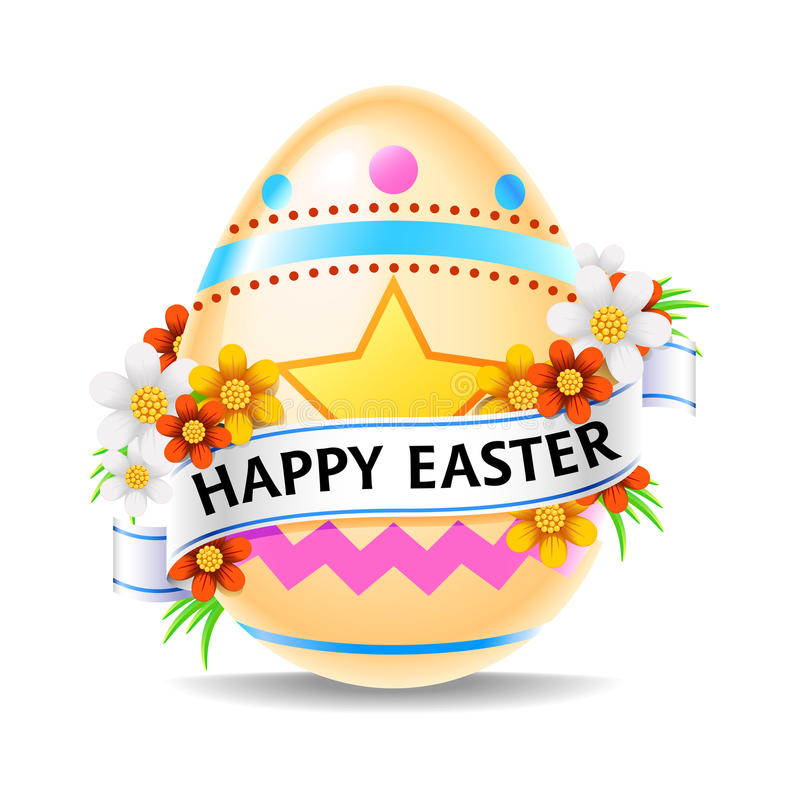 Happy Easter Egg royalty free illustration