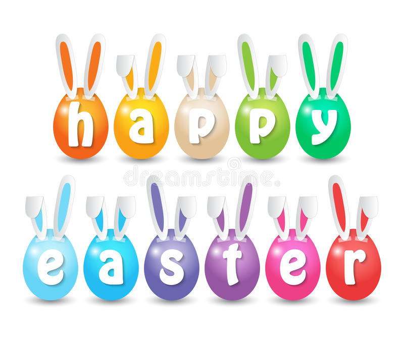 Happy Easter Eggs stock illustration