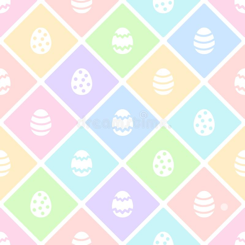Happy Easter eggs flat design seamless vector pattern royalty free illustration