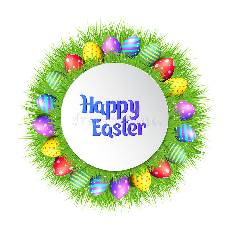 Happy Easter eggs frame. vector illustration