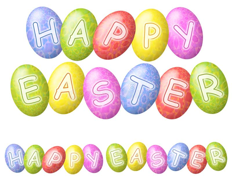 Happy Easter Eggs Logos or Banners royalty free stock photography