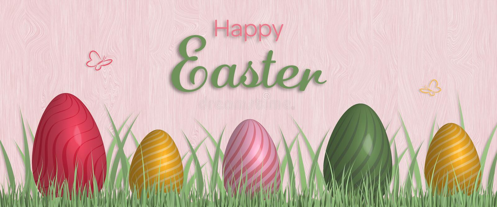Happy Easter - Eggs royalty free illustration