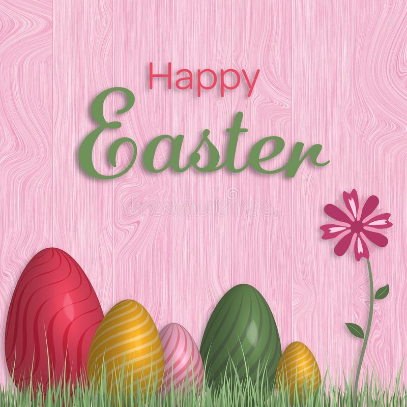 Happy Easter - Eggs vector illustration