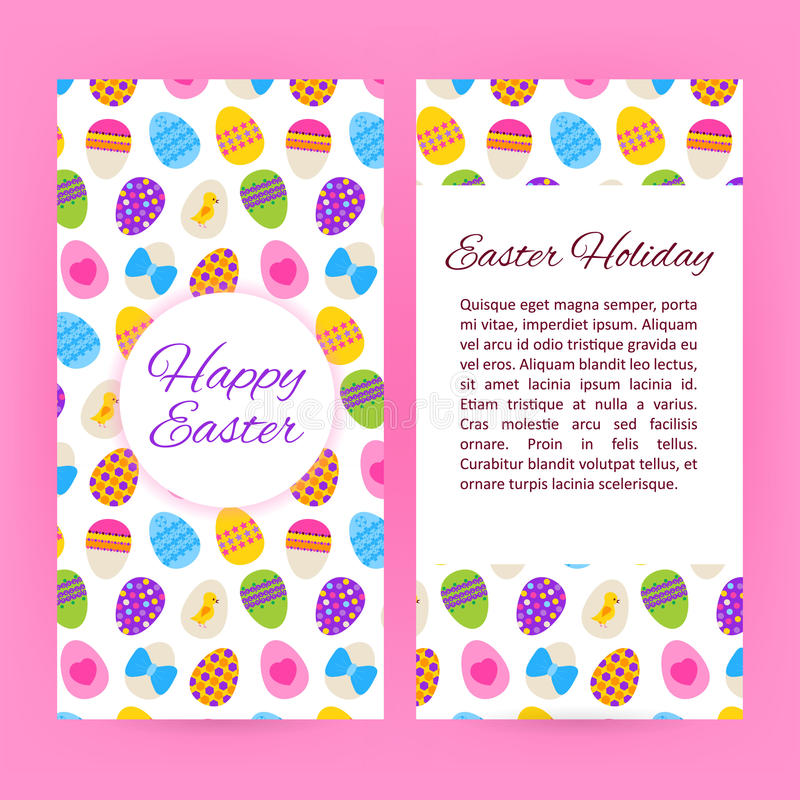 Happy Easter Flyer Brochure Template Stock Vector  Illustration Of