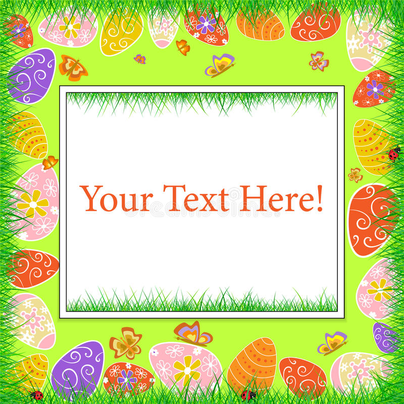 Happy Easter frame royalty free stock photo