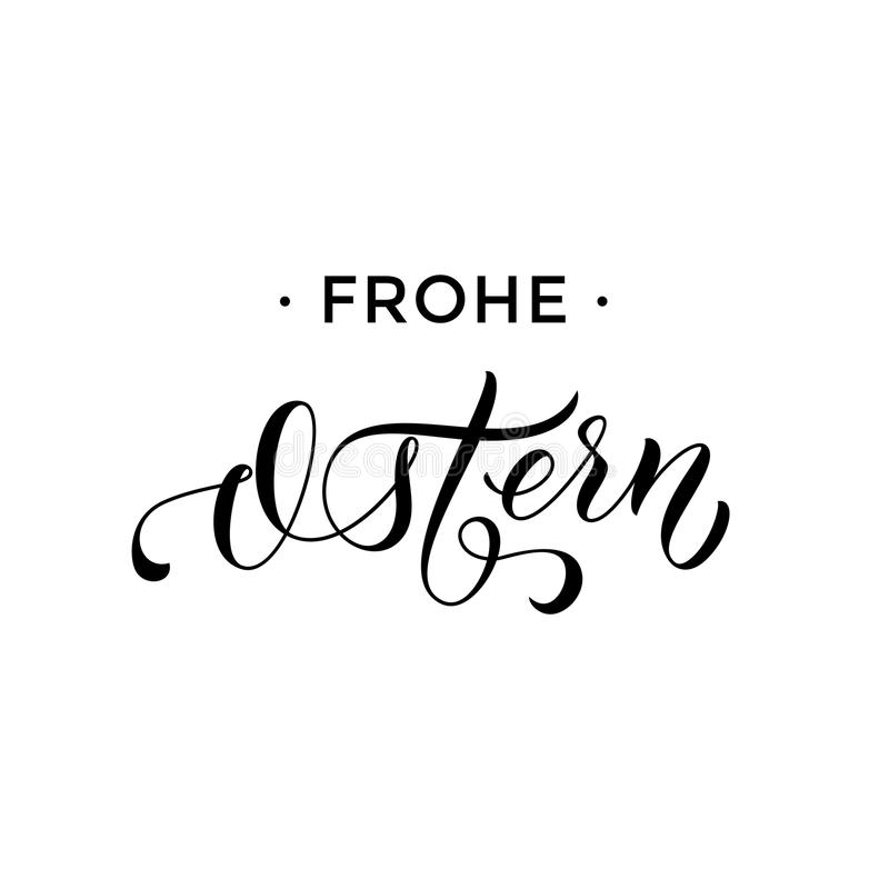 Happy easter german frohe ostern paschal text greeting card stock download happy easter german frohe ostern paschal text greeting card stock vector illustration of lettering m4hsunfo