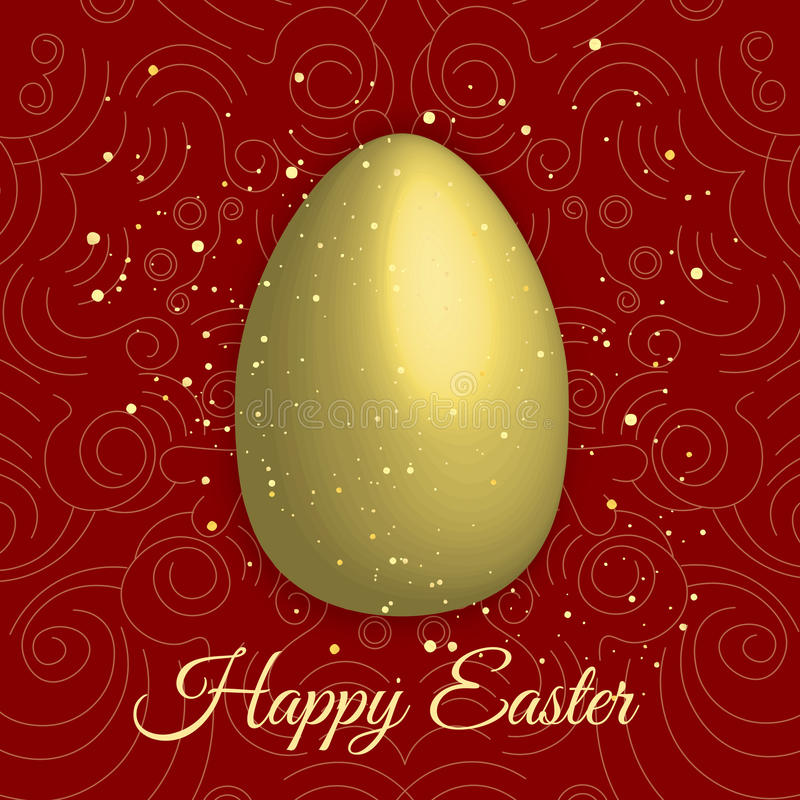Happy easter with golden egg on red background happy easter vector download happy easter with golden egg on red background happy easter vector illustration happy m4hsunfo