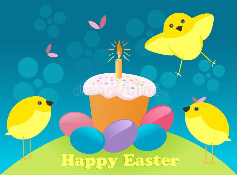 Happy Easter greeting card royalty free illustration