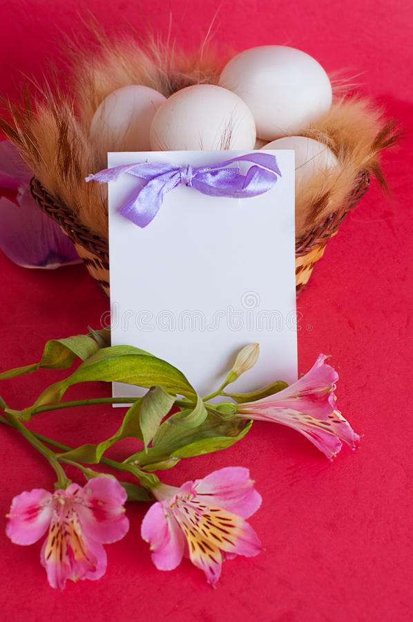 Download Happy Easter greeting card stock image. Image of bright - 23860853