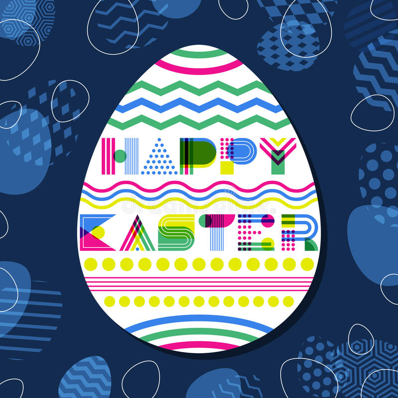 Happy Easter Greeting Card Banner Or Poster Design Template