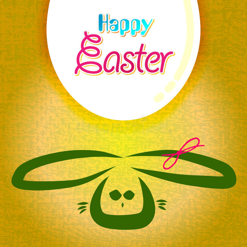 Download Happy Easter Greeting Card,  Bunny Eggs Stock Vector - Image: 23318288