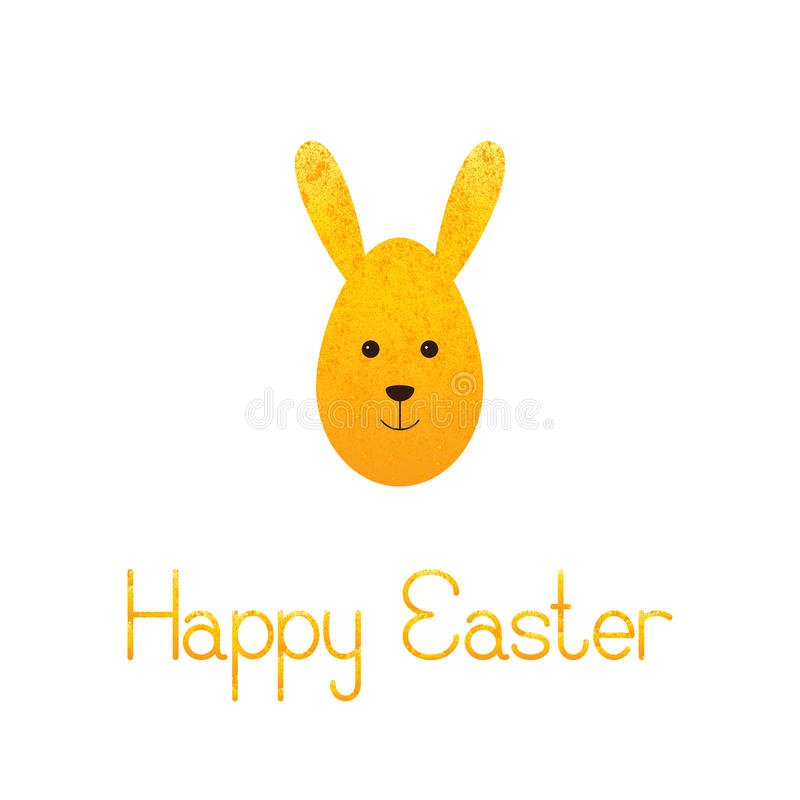Happy Easter greeting card with egg rabbit royalty free illustration