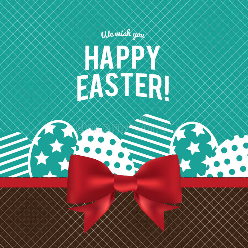 Happy Easter greeting card with eggs ,vector design stock photos