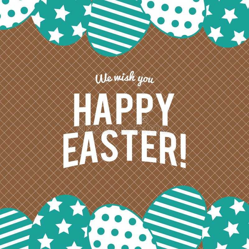 Happy Easter greeting card with eggs ,vector design stock images