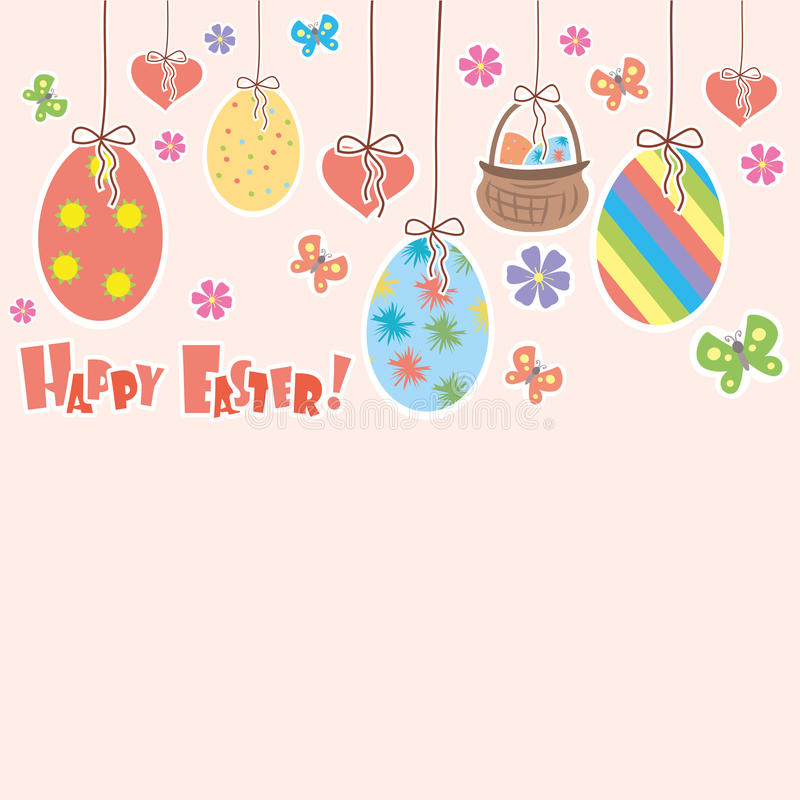 Happy Easter greeting card,place for text vector illustration