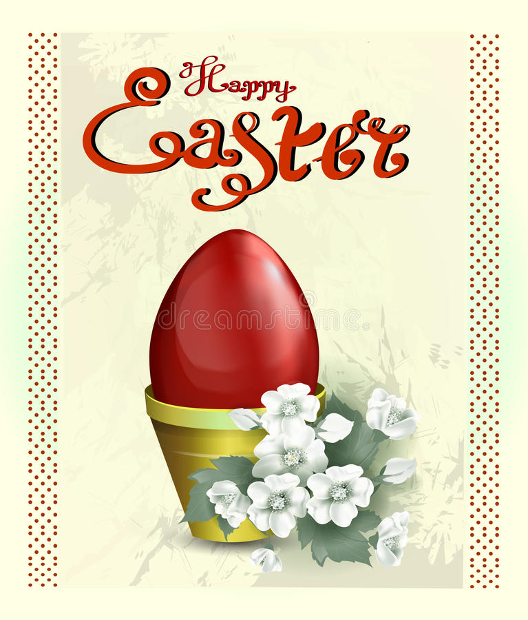 Happy Easter greeting card stock images