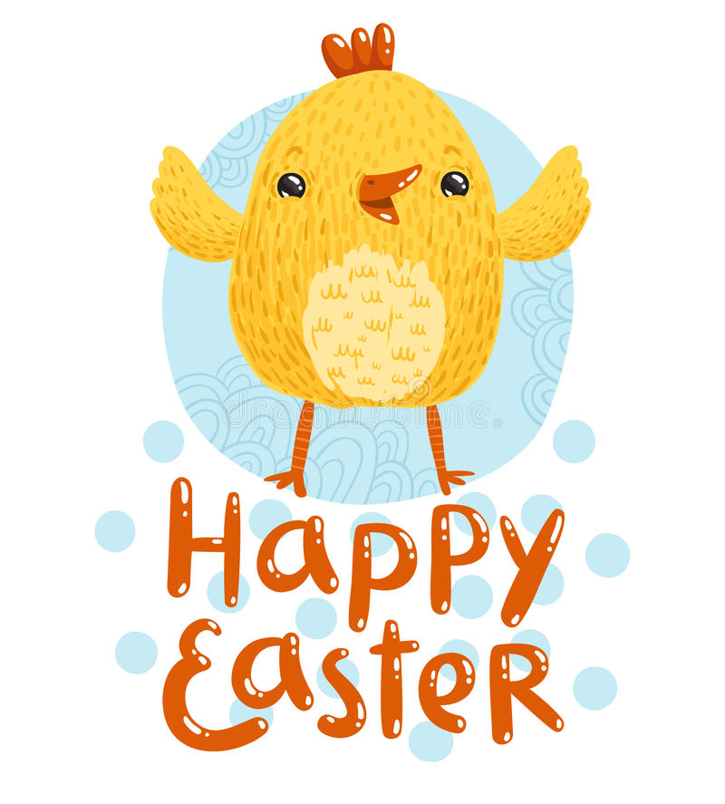 Happy Easter greetings royalty free illustration