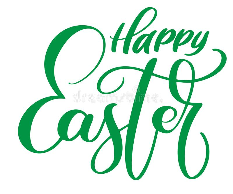 Happy Easter Hand drawn calligraphy and brush pen lettering. Vector Illustration design for holiday greeting card and. For photo overlays, t-shirt print, flyer stock illustration