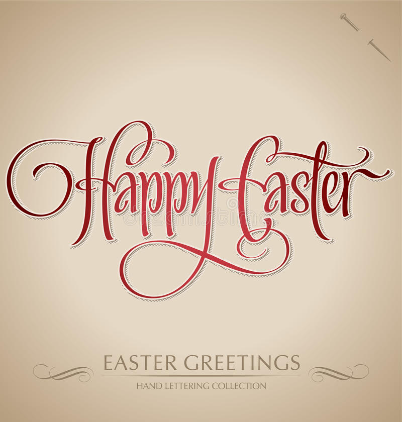 Download Happy Easter Hand Lettering (vector) Stock Images - Image: 23602324