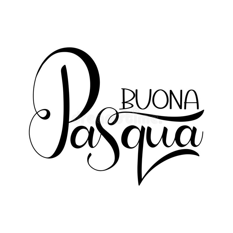Happy easter lettering in italian stock vector illustration of buona pasqua lettering happy easter colorful lettering in italian hand written easter phrases seasons greetings m4hsunfo
