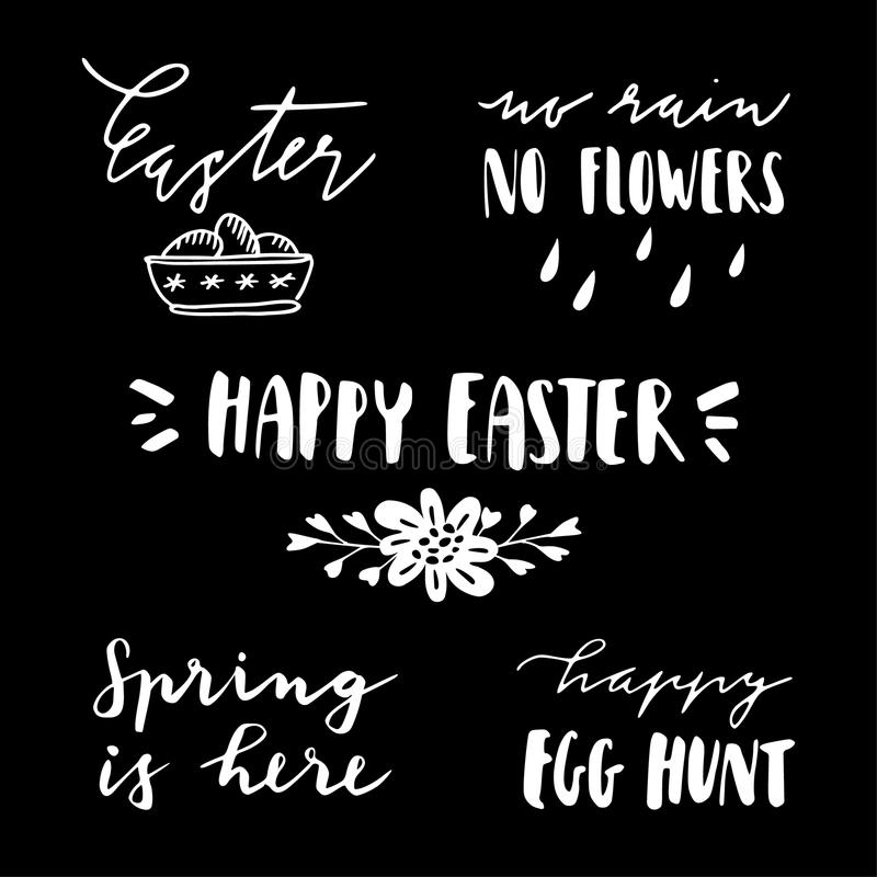 Happy easter lettering set handwritten chalk quotes for greeting download happy easter lettering set handwritten chalk quotes for greeting cards gift tags negle Images