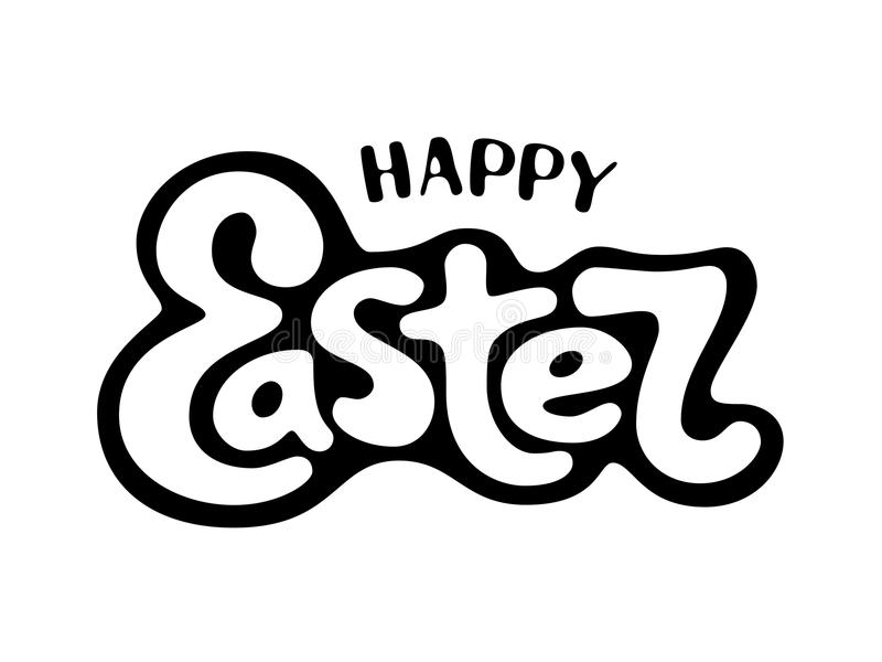 Happy Easter lettering. Happy Easter. Vector lettering. Eps8 RGB Global colors stock illustration