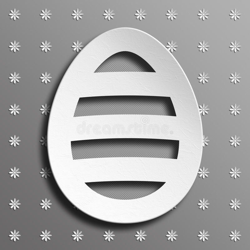 Happy Easter - modern design of greeting card royalty free illustration