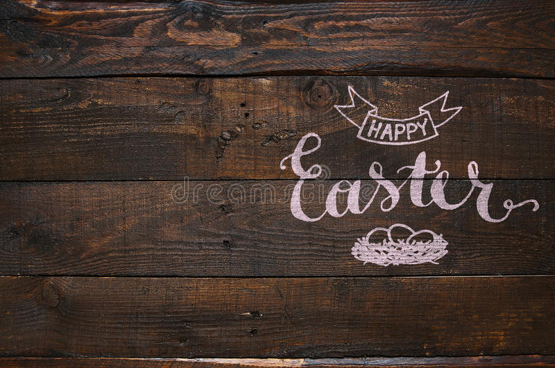 Happy Easter Nest Lettering Calligraphy Stock Illustration