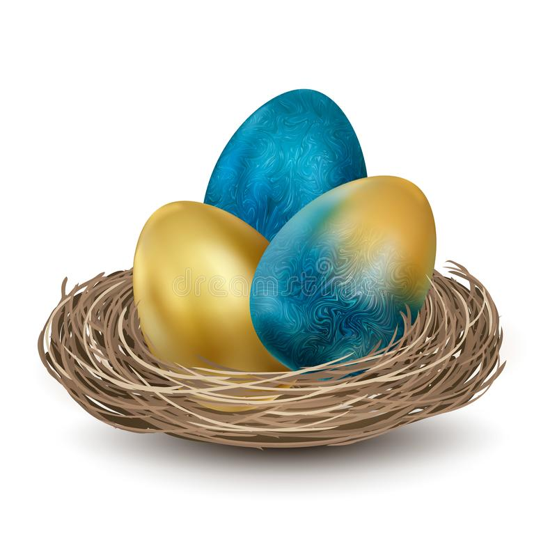 Happy Easter, painted eggs. Spring holidays, Easter background. Vector illustration EPS10 royalty free illustration