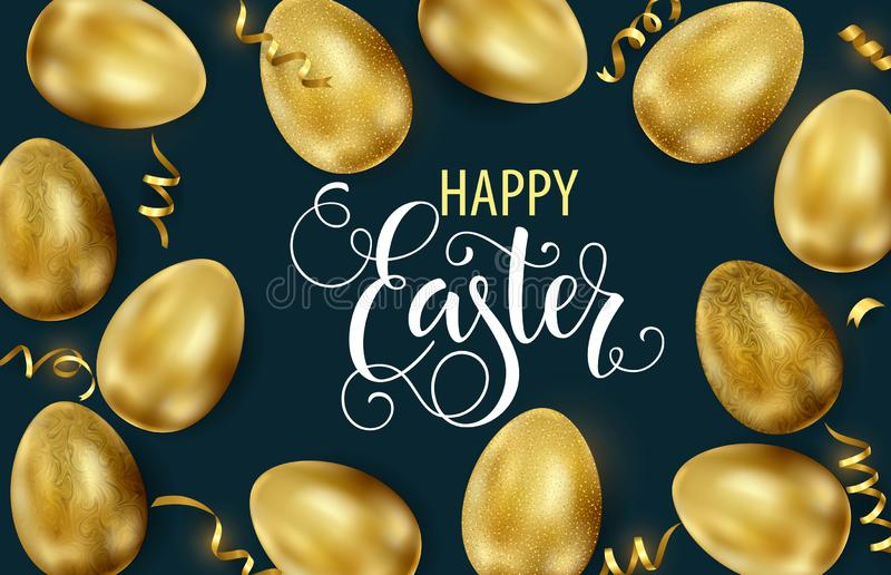 Happy Easter, painted eggs. Spring holidays, Easter background. Vector illustration EPS10 vector illustration