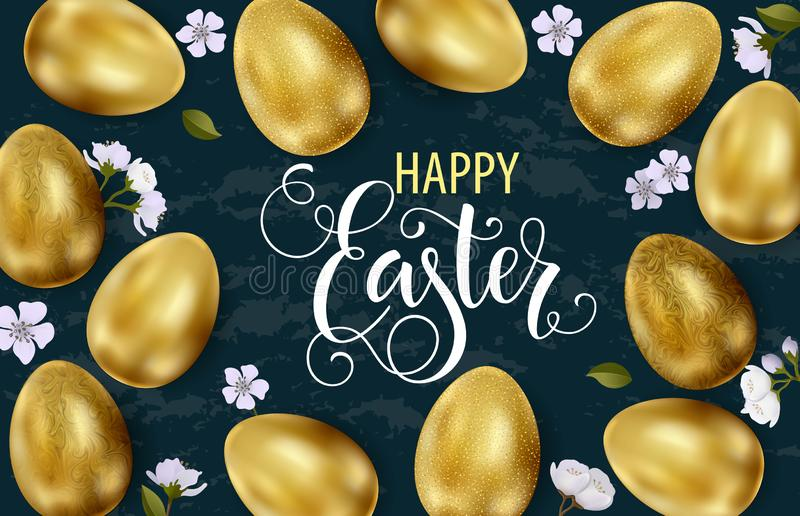 Happy Easter, painted eggs. Spring holidays, Easter background. Vector illustration EPS10 stock illustration
