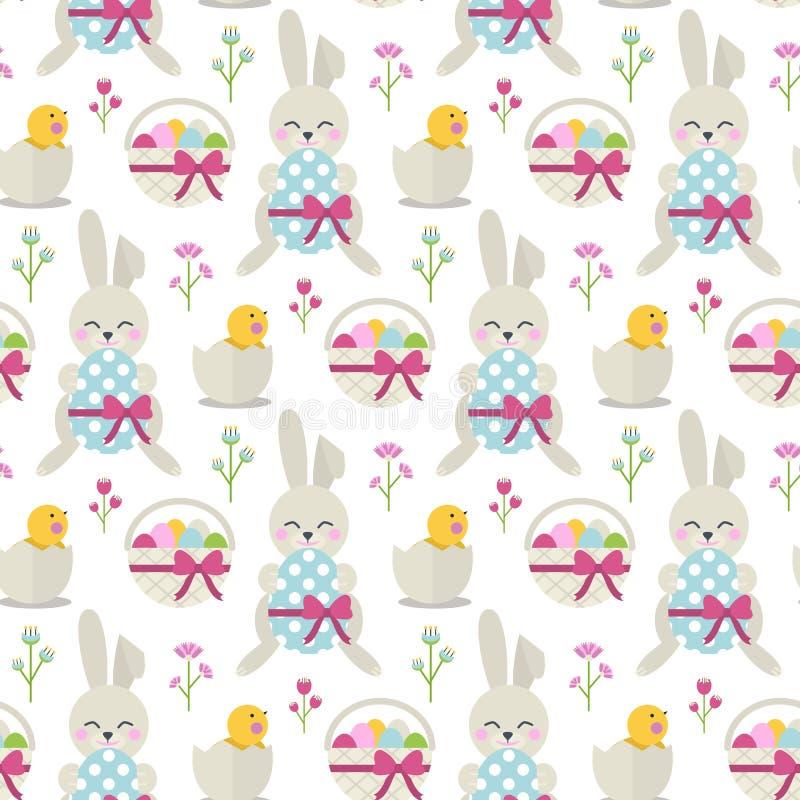 Happy Easter pattern stock illustration